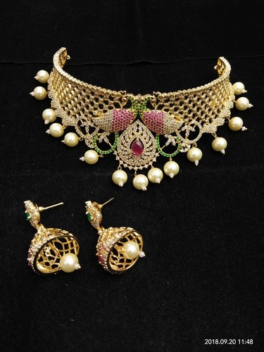 Gold Plated Imitation Chokar Set