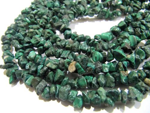 Natural Malachite Irregular Chip Gravel Uncut Nugget beads