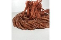100% Natural AAA Sunstone Faceted Rondelle Beads Strand 3-4mm