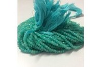 100% Natural Amazonite Faceted Rondelle Beads Strand 3.5-4.5mm