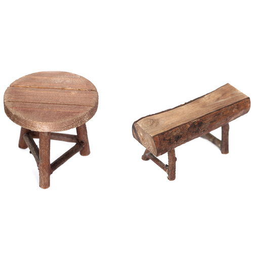 Wooden Stool And Bench