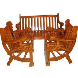 Wooden Double Chair