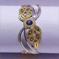 Peacock Design Silver Bangles