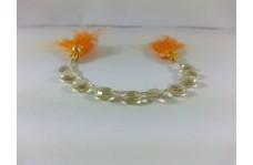 100% Natural Honey Quartz Faceted Heart Briolette Beads Strand