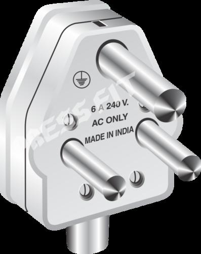 Press Fit Badshah 6 Amp. 3 Pin Plug Top