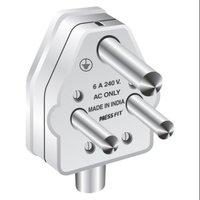 Pressfit Badshah 6 Amp. 3 Pin Plug Top