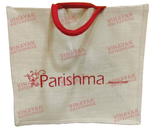 Fancy white Jute Bag