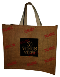 Jute bag with cotton handle