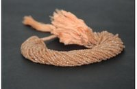 100% Natural Peach Moonstone Faceted Rondelle Beads Strand 3-4mm