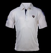 SG Cricket White Half Sleeves T-shirt