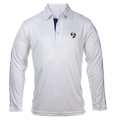 Cricket White Full Sleeves T-Shirt