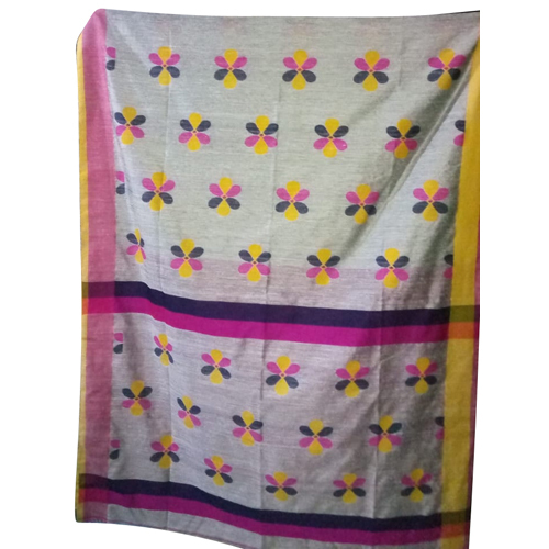 Ladies Floral Print Cotton Saree