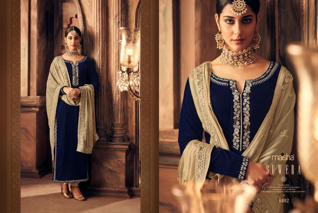 Party Wear Velvet Anarkali Suit
