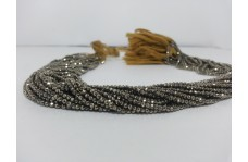 100% Natural Pyrite Micro Faceted Beads Strand 2-2.3mm