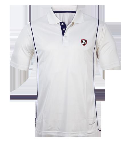 Cricket White Half Sleeves T-Shirt