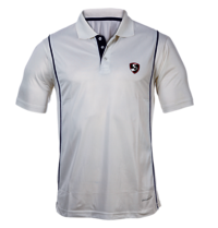 Cricket White Half Sleeves T-Shirt