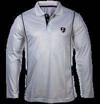 Mens Cricket Full Sleeves White T-shirt