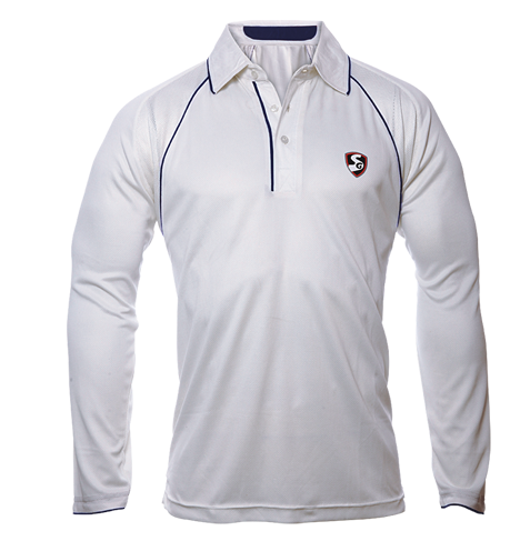 SG Cricket White Premium Full Sleeves T-shirt