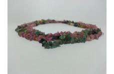 100% Natural Watermelon Tourmaline Uncut Chips Beads Strand