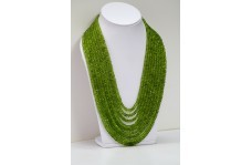 1820cts Natural Peridot Faceted Rondelle Beads Necklace 4.5-8mm