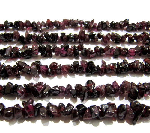 Natural Garnet Irregular Chip Gravel Uncut Nugget beads