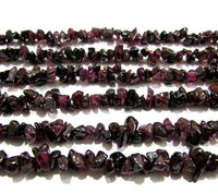 Natural Garnet Irregular Chip Gravel Uncut Nugget beads