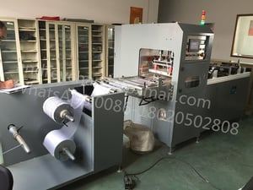 Medical urine bag welding and making machine