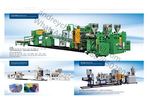 Plastic pipe, profile and sheet extruder machine