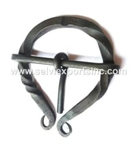 Iron Twisted Medieval Brooch