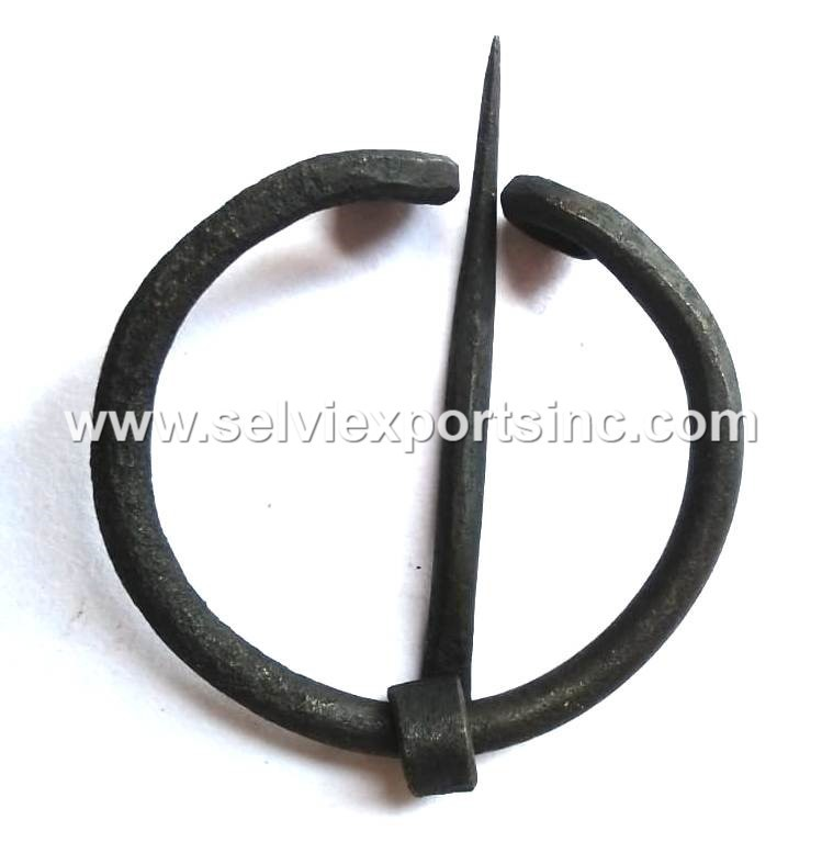 Hand forged Iron Brooch