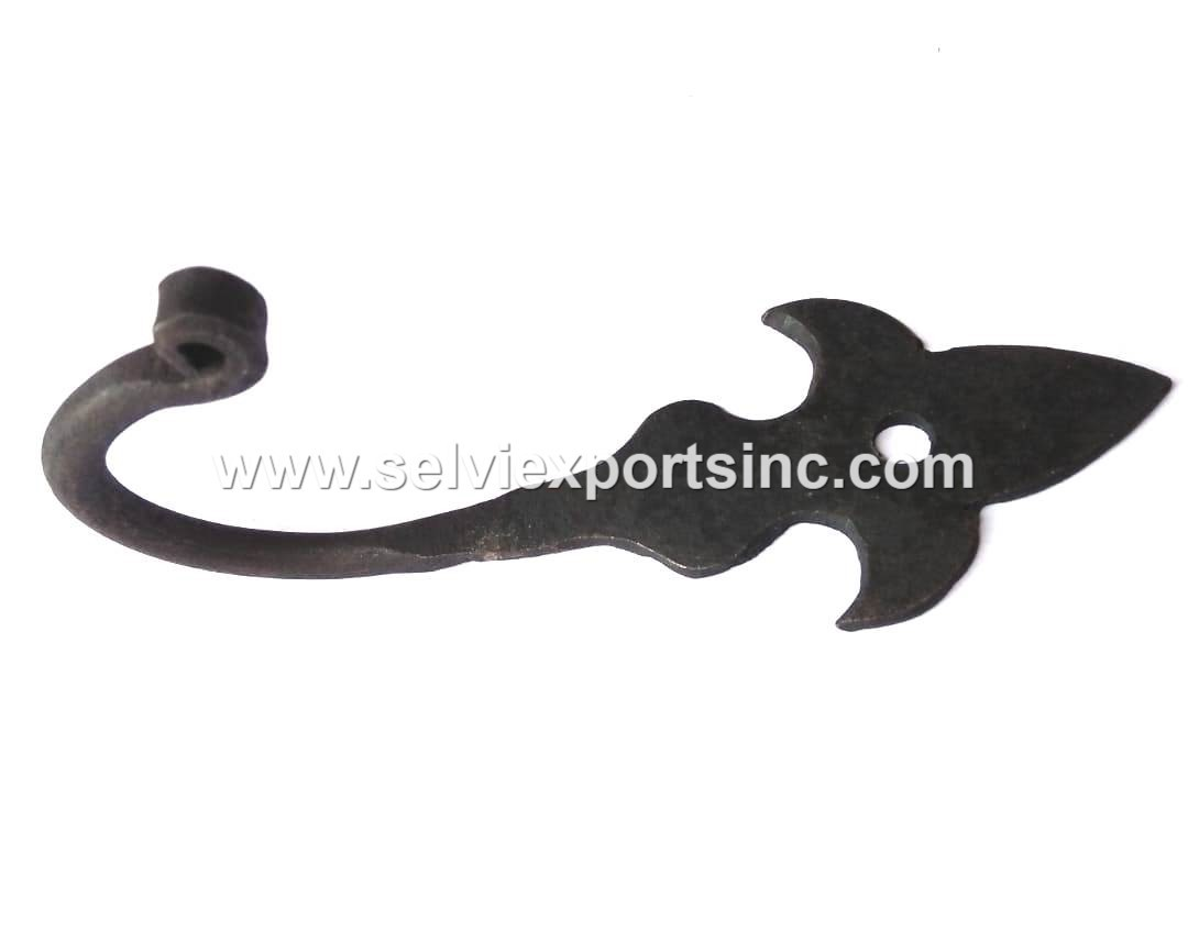 Hand forged Decorative Iron Hook