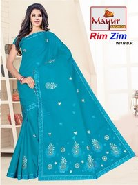 Designer Cotton Work Saree