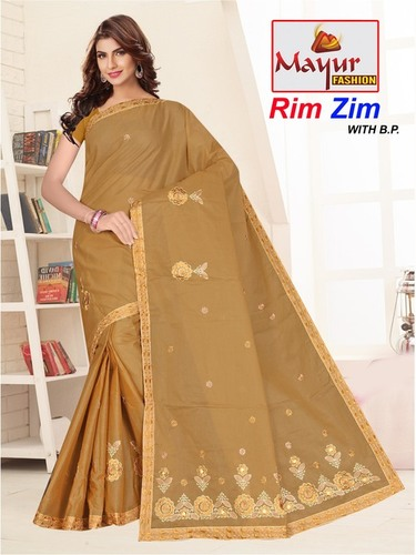 Rim Zhim Cotton Work Saree