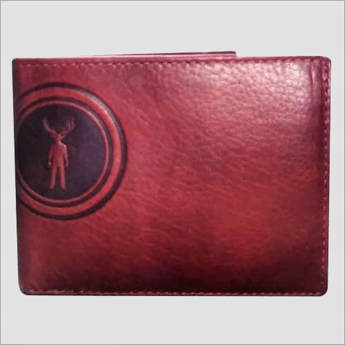 Red Leather Men's Wallet