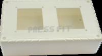 Press Fit - 15 Amp. 2 Way Nano Gang Box