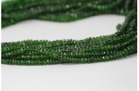AAA Natural Chrome Diopside Faceted Rondelle Beads Strand 3-4.5mm