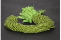 AAA Natural Peridot Faceted Rondelle Beads 4-4.5mm