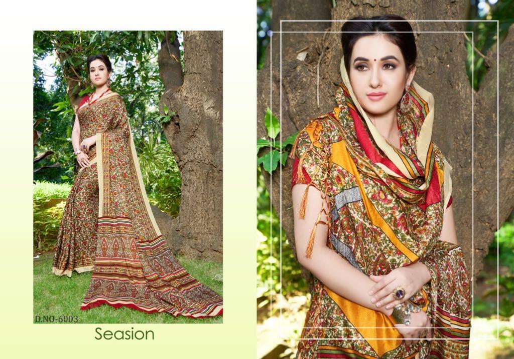 Silk Printed Sarees Collection