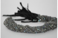 Natural AAA Labradorite Faceted Rondelle Beads 3-4mm