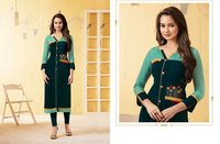 Rayon Straight Long Kurtis