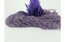 Natural Amethyst Faceted Round Beads Strand 4-4.5mm