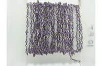 Natural Amethyst Micro Faceted Beads Rosary Chain