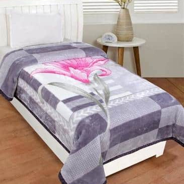 Flower Design Mink Blanket