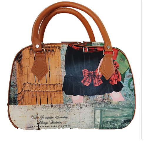 Printed Duffle Travel Bag