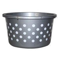 Plastic Tub with Round Spot Polka 32