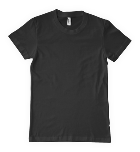Black  Round Neck T-Shirts