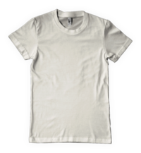 White Round Neck T Shirts