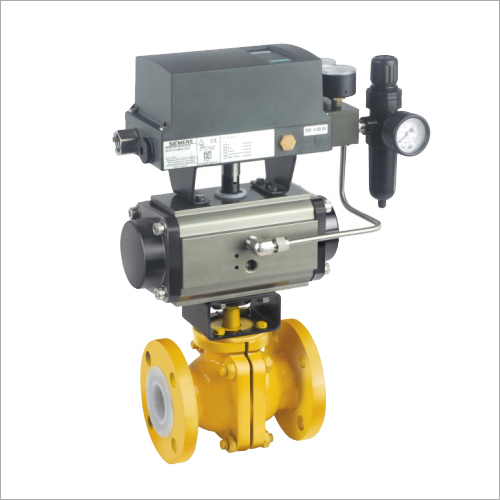 PFA-FEP Lined Ball Valve With Rotary Actuator