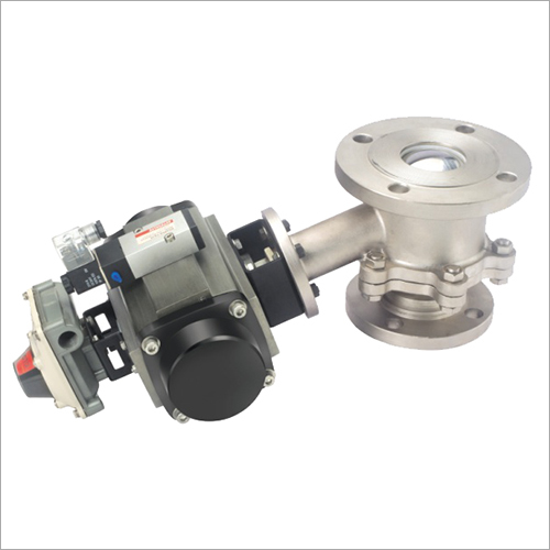 Flush Bottom Ball Valve With Rotary Actuator