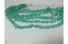 Natural Blue Apatite Uncut Chips Beads Strand 34 inches